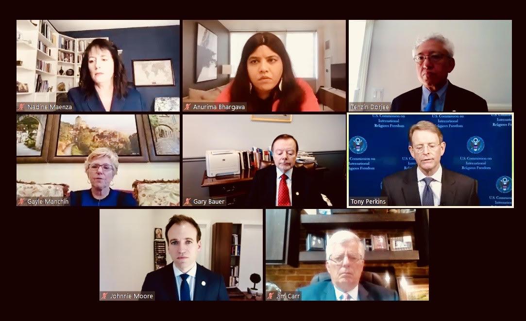 """Comisionados de USCIRF participando en Webinar via Zoom dando a conocer el """"USCIRF 2020 Annual Report"""""""